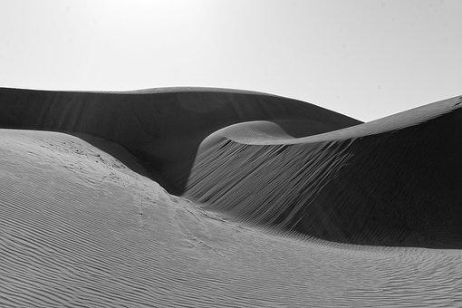 Black And White, Sand, Dunes, Pacific Dunes, Beach