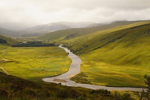 River, River Meander, River Bend, Waters, Scotland