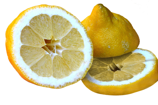 Lemon, Sour, Sliced, Isolated, Healthy, Vitamins