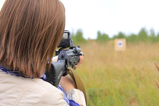 Target, Shooter, The Sight, Weapons, Woman