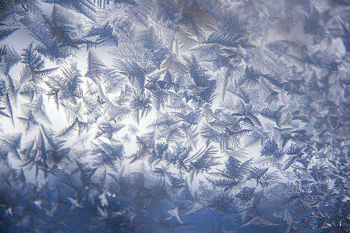 Frost, Window, Cold, Winter, Icy, Frosty, Blue, Texture