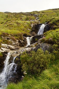 Bach, Waterfall, Scotland, Nature, Landscape, Water