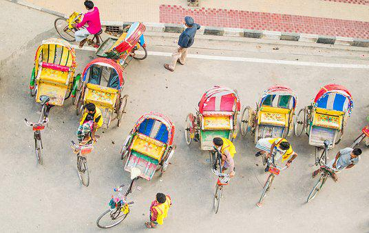 Rickshaw, Street, Color, Yellow, Rickshaw Puller, Pedal