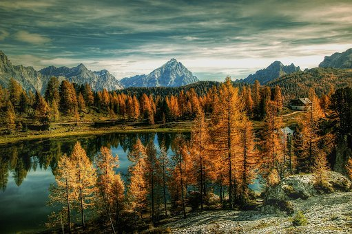 Antelao, Dolomites, Bergsee, Alm, Nature, Blue, Lake