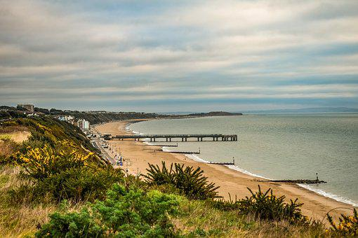 Bournemouth, East Cliff, Beach, Sand, Travel, Sky
