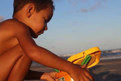 Child, Beach, Sand, Ocean, Children, Childhood