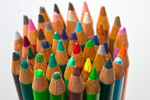 Colored Pencil, Writing Or Drawing Device, Colorful
