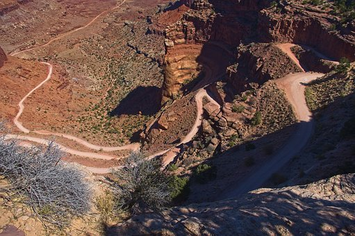 Overlooking Shafer Canyon Road, Desert, Canyonlands