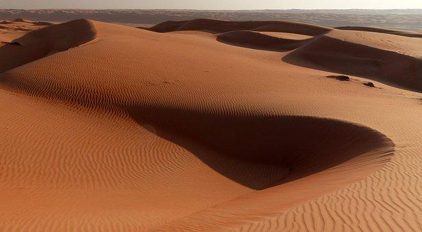 Desert, Dune, Dunes, Oman, Landscape, Sunset, Sand