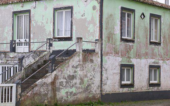 Portugal, Azores, Terceira, Island, Rural, House, Old