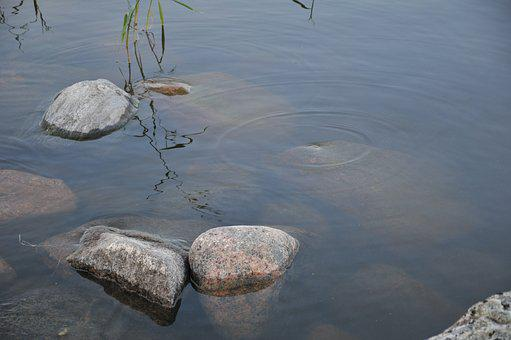Water, Stones, Lake, Nature
