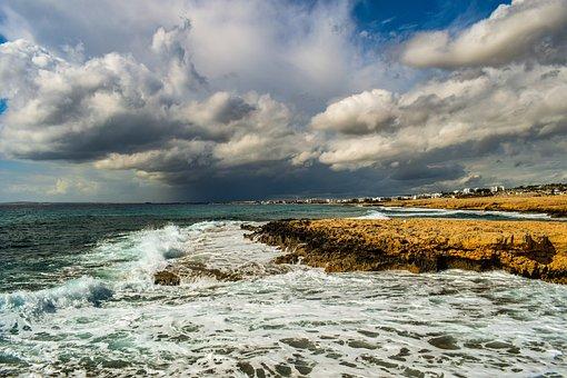 Sea, Landscape, Coast, Rocky, Nature, Sky, Clouds