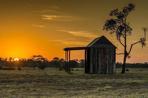 Landscape, Shed, Countryside, Rustic, Cottage, Scenic