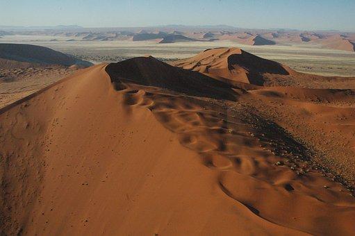 Namibia, Namib, Dunes, Sand Red