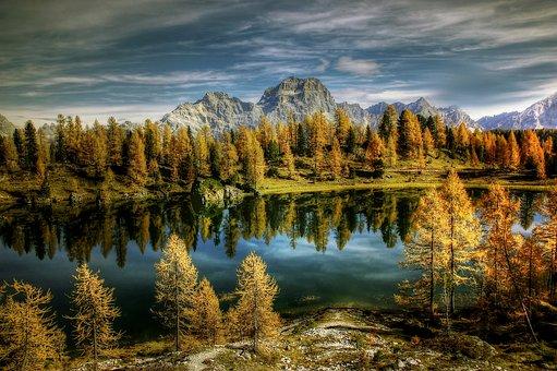 Sorapiss, Bergsee, Alm, Nature, Blue, Lake