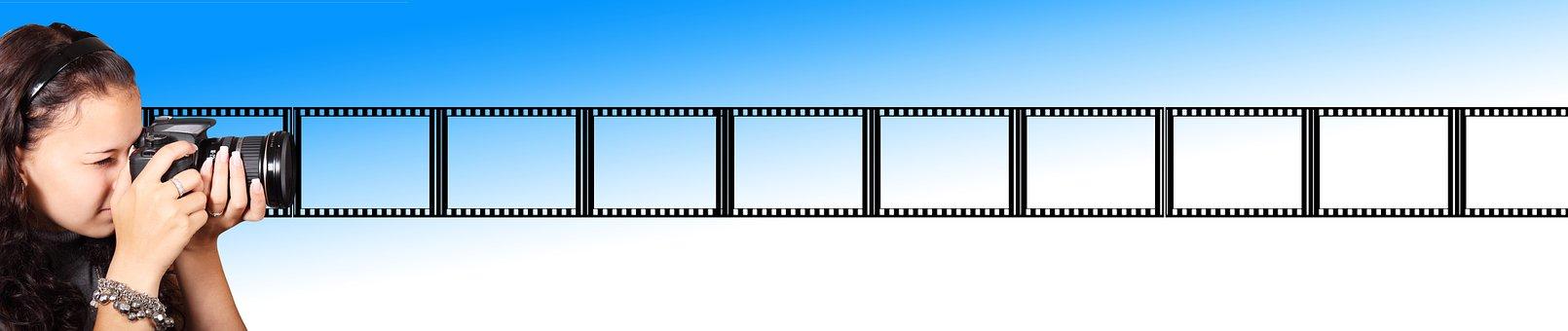 Photographer, Photograph, Camera, Banner, Header, Film