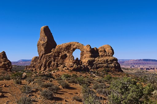 Arches Turret, Sandstone, Arches, National, Park
