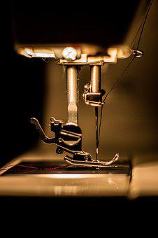 Macro, Sewing Machine, Tool, Sew, Fabric, Pattern