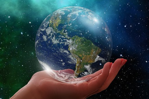 Globe, Earth, America, Usa, South America, World, Hand