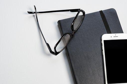 Black, White, Glasses, Iphone, Background, Wallpaper