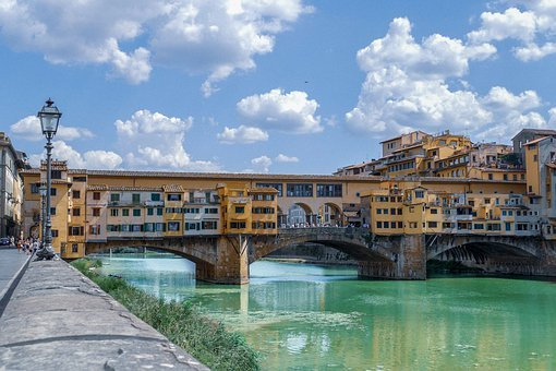 Italy, Bridge, Water, Florence, Architecture, City