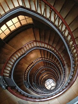 Stairs, Building, Architecture, Rise, Kontor