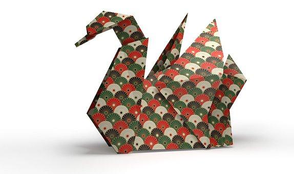 Origami, Folding Paper, 3d, Swan, Bird
