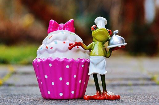 Baker, Cooking, Coffee, Cupcake, Frog, Cake