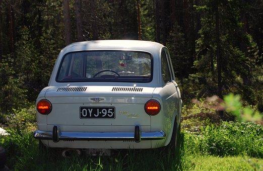 Fiat 850, Summer, Old, Resto, Model, Car