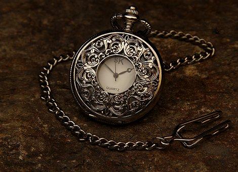 Pocket Watch, Jewel, Chain, Stone, Time, Clock, Hour