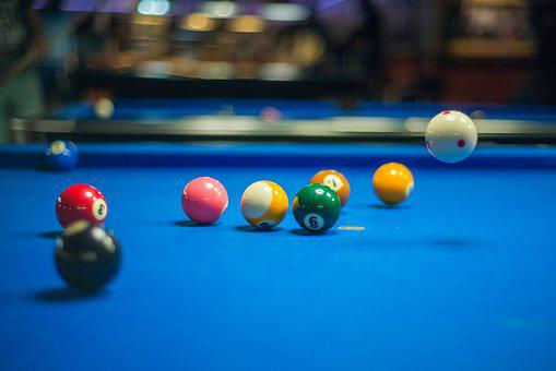 Pool, Balls, Cue, Game, Fun, Activity, Sport, Leisure