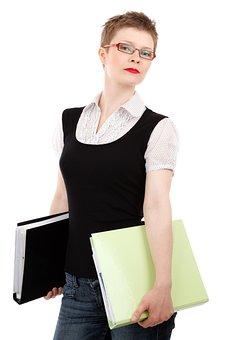 Assistant, Business, Career, Employee, Female, Folder