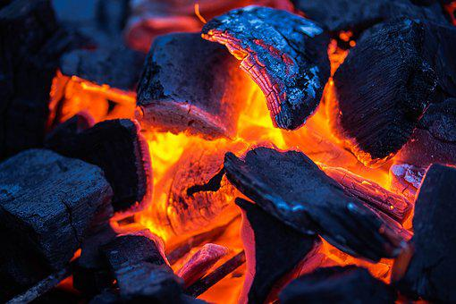 Charcoal, Carbon, Fuel, Heat, Embers, Burn, Fire, Hot
