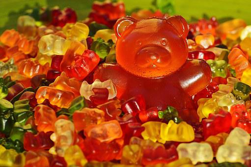 Giant Rubber Bear, Gummibär, Gummibärchen, Fruit Gums