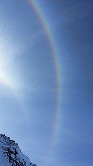 Halo, Rainbow, Spectrum, Sky, Sun, Nature, Landscape