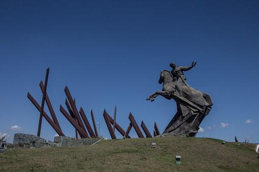 Cuba, Monument, Held, Bronze Statue, Statue