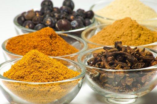Spices, White, Pepper, Nutmeg, Cloves, Food, Seasoning