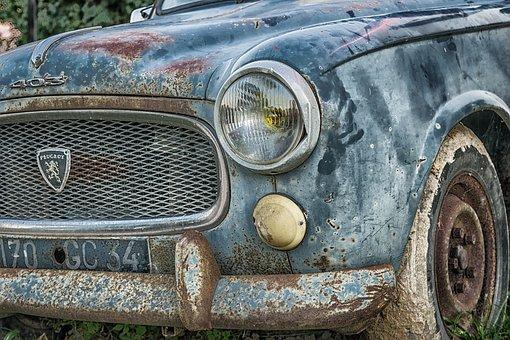 Auto, Peugeot, Pkw, France, 1955, Classic, Oldtimer