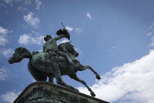Reiter, Statue, Horse, Equestrian Statue, Monument