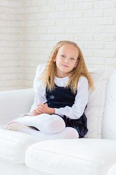 Girl, Child, Young, Pretty, Room, White, Cute, Happy