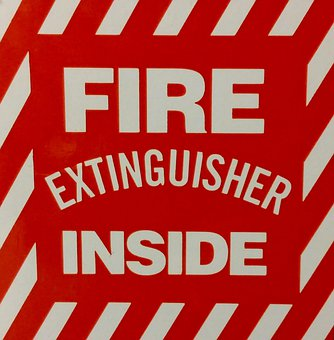 Fire, Fire Extinguisher, Extinguisher, Sign, Symbol