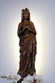 France, Savoie, Col Of Seizures, Statue, Virgin, Halo