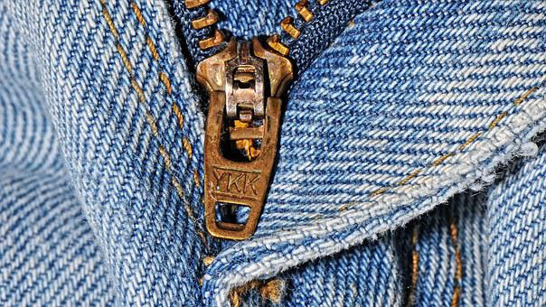 Zipper, Pants, Jeans, Clothing, Textile, Clothes, Blue