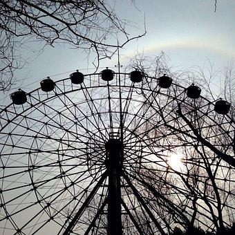 The Ferris Wheel, Sunset, Halo, Rainbow, Shanghai Zoo