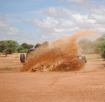 Mud, 4x4, Splashes, All Terrain, Car, Niger, Africa