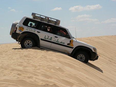 Travel, Tunisia, All Terrain, Deser, Sand, Stuck, Car