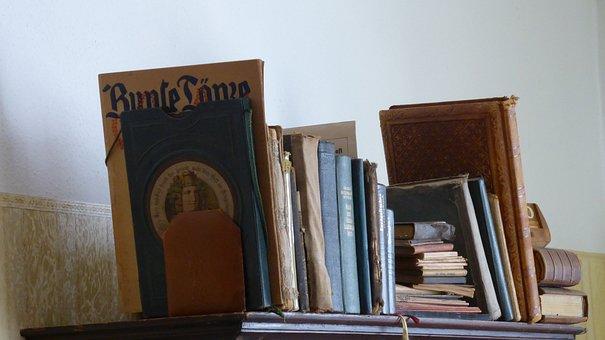 Bookshelf, Books, Old, Antiquariat, Historically, Read