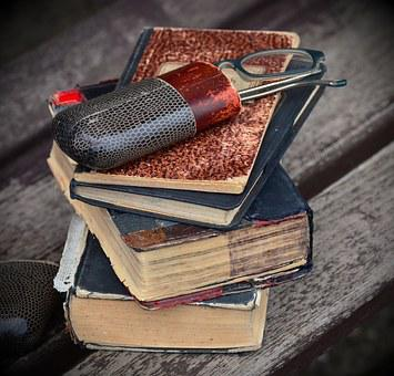 Books, Old, Antique, Glasses, Case, Glasses Case