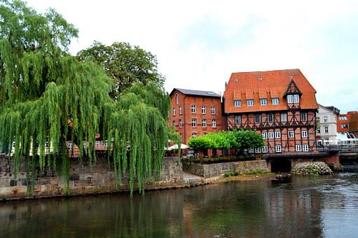 Lüneburg, Building, Old Mill, Truss, Architecture, City