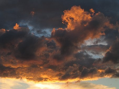 Sunset, Sky, Clouds, Fire, Flame, Good Looking